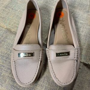 Calvin Klein Womens Loafer Flats Leather 9.5